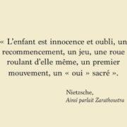 Citation tirée d'Ainsi parlait Zarathoustra de Nietzsche