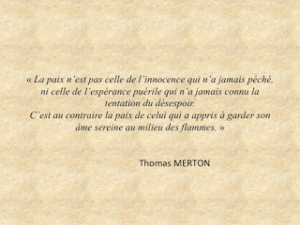 Citation de Thomas Merton sur la paix