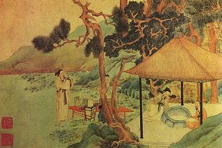 Image japonaise sur la cérémonie du thé