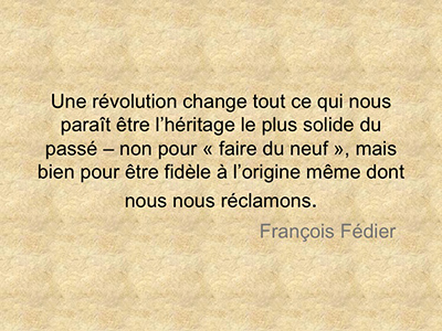 Citation de François Fédier: Révolution