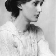 Photo portrait noir et blanc de Virginia Woolf de profil