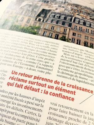 Photo d'une partie de page de l'Express