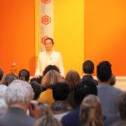 Photo d'une séance de pratique au sein de l'École occidentale de méditation, fondée par Fabrice Midal