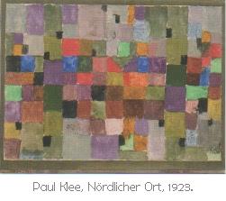 Tableau de Paul Klee où apparait une mosaïque carrée de couleurs