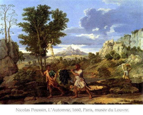 Reproduction de L'automne, tableau de Nicolas Poussin