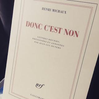 """Photo de la couverture du livre d'Henri Michaux """"Donc c'est non"""""""