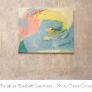 Photo d'un tableau d'Elisabeth Larivière, intervenante au sein de l'École occidentale de méditation, fondée par Fabrice Midal