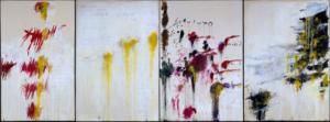 Reproduction du tableau Les quatre saisons, de Cy Twombly