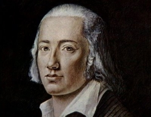 Portrait du poète Hölderlin par Franz Karl Hiemer.
