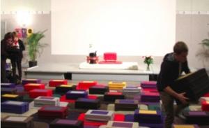 Photo de la salle de La Prudentielle louée par l'École occidentale de méditation, fondée par Fabrice Midal