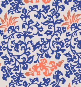 motif floral bleu