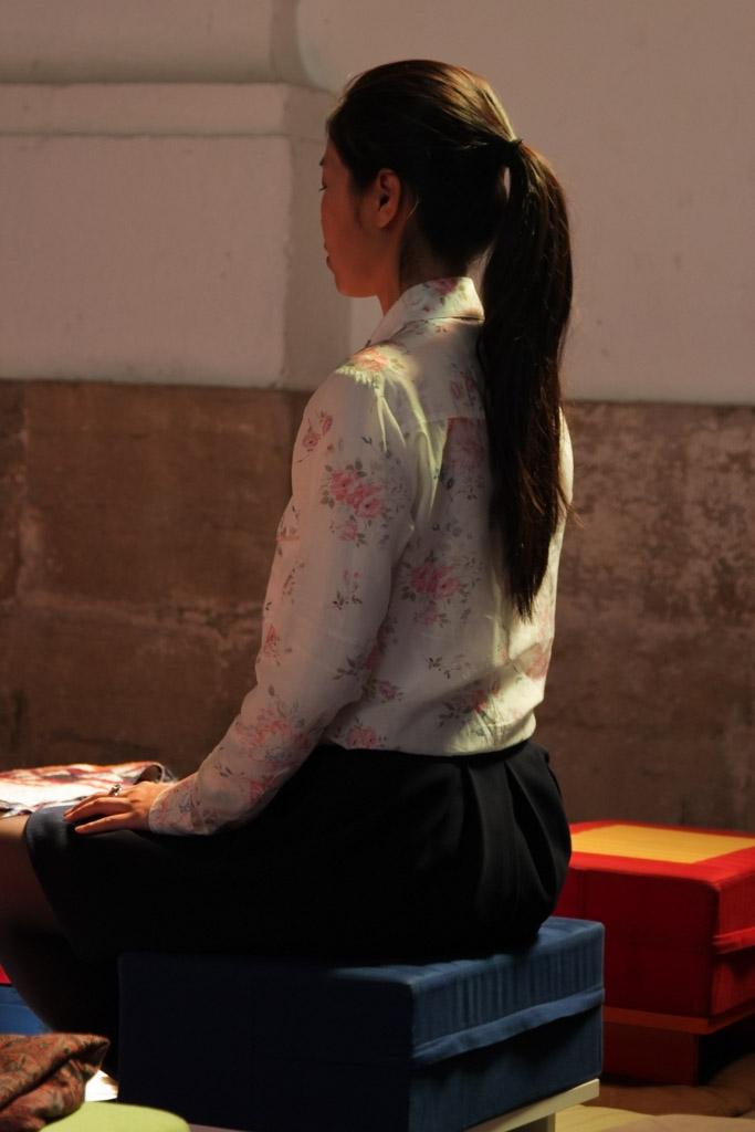 Photo d'une méditante