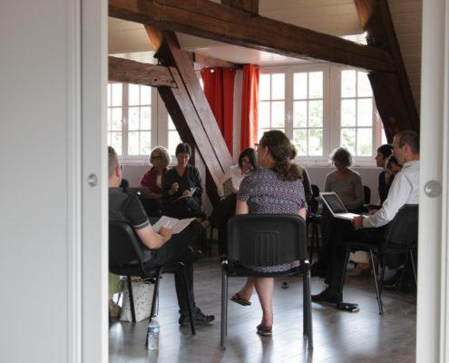 Photo d'un groupe d'étude