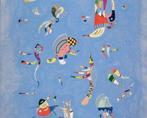Photo d'un tableau de kandinsky