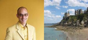 Photomontage de Fabrice Midal à gauche et d'une vue de Dinard à droite