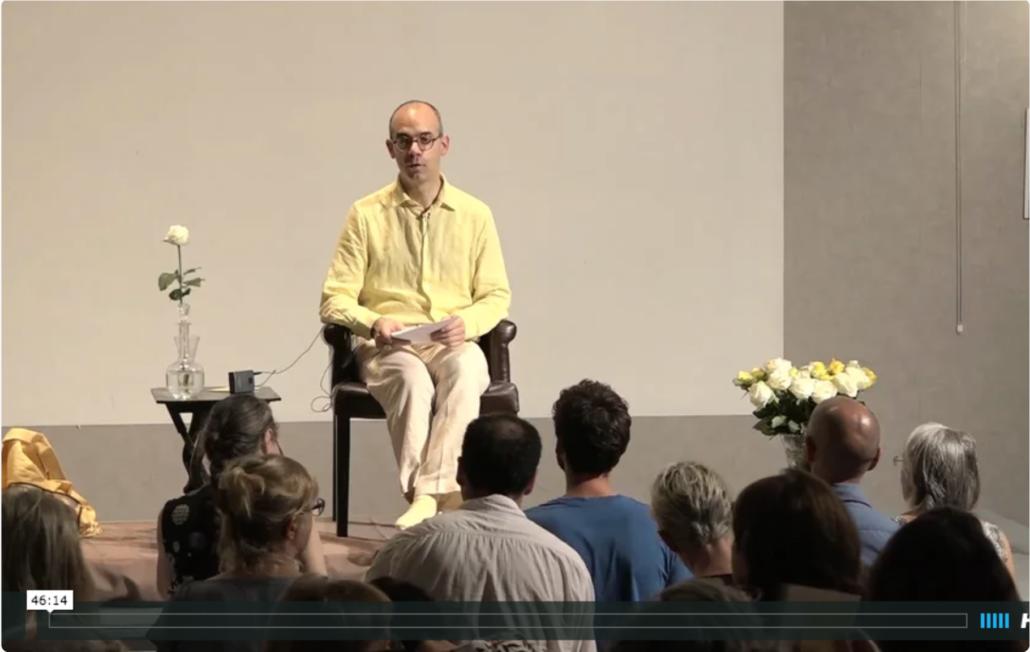 Vidéo-live de Fabrice Midal