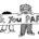 """Dessin représentant quatre enfants tenant une banderole sur laquelle est inscrit : """"thank you parents"""" (Merci les parents)."""