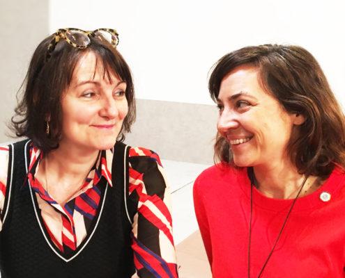 Photographie de Marie-Laurence Cattoire et Marine Manouvrier.