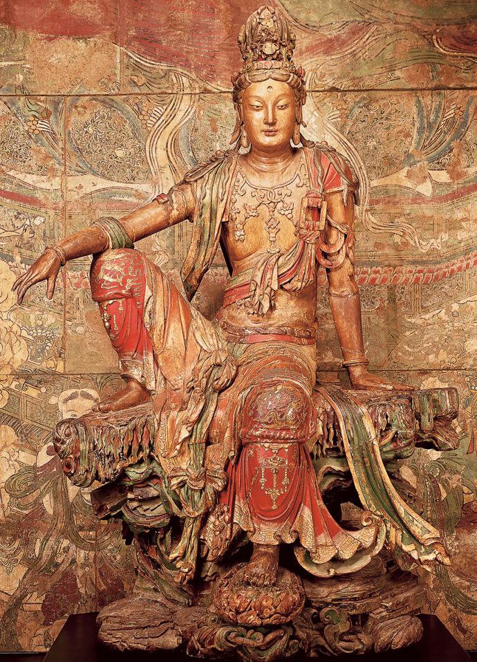 Image d'un bodhisattva en posture de délassement
