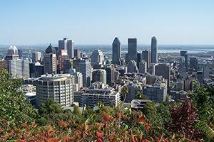 Photo d'une vue de Montréal