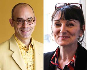 Photomontage des portraits de Fabrice Midal et de Marie-Laurence Cattoire