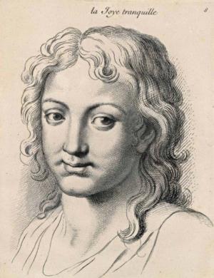 Portrait personnifiant la joie tranquille par Charles Le Brun.