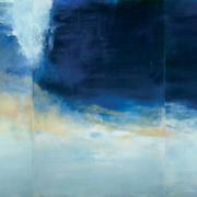 Tableau de Zao Wou-Ki intitulé le vent pousse la mer
