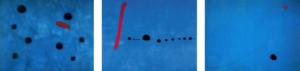 """Image d'une série de tableau de Miró """"Bleus"""""""