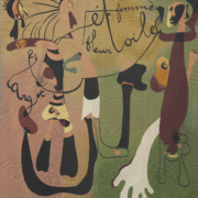 """Tableau de Joan Miró, intitulé """"Escargot, femme, fleur, étoile"""", peint en 1934."""