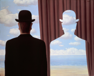 """Œuvre de René Magritte intitulée """"Décalcomanie"""" et datant de 1966."""