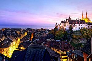 Photo de la ville suisse de Neuchâtel