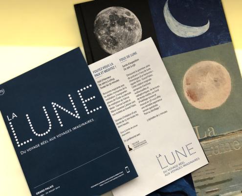 Programme de l'exposition La Lune au Grand Palais.