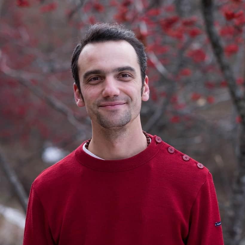Photo de Mathieu Boillat, méditant référent de l'École occidentale de méditation à Genève