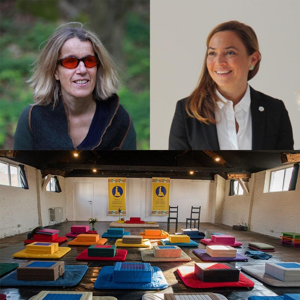 Photomontage de présentation du centre de L'École de méditation à Bruxelles