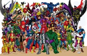 Dessin d'un groupe de super-héros.