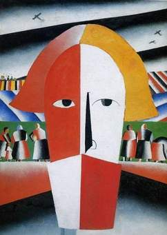 Tableau de Kasimir Malevitch intitulé Tête de paysan.