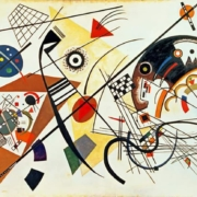 Tableau de Kandinsky : Lignes d'intersection (1923)