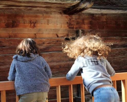 Photo de dos de deux petites-filles de Dominique Sauthier
