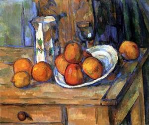 Détail d'un tableau : pommes sur une table
