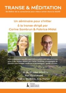 """Affiche du séminaire """"Transe et méditation"""""""