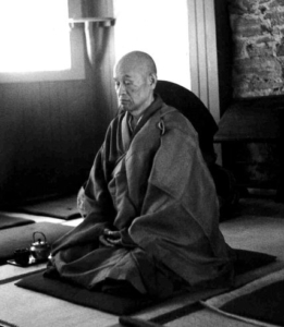 Photo de Shunryu Suzuki en méditation