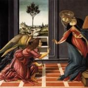 """Image du tableau """"L'Annonciation"""" de Botticelli"""