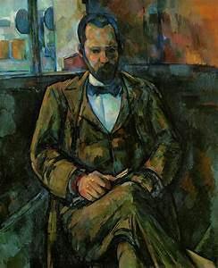 Reproduction d'un tableau représentant un homme assis lisant dans un café
