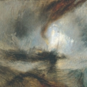"Reproduction d'un tableau de William Turner, ""Tempête de neige en mer"""