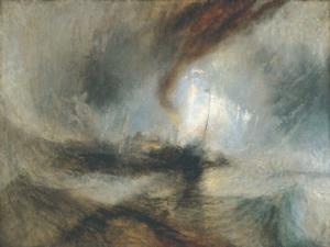 """Reproduction d'un tableau de William Turner, """"Tempête de neige en mer"""""""