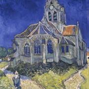 """Image du tableau de Van Gogh """"L'Eglise d'Auvers-sur-Oise"""