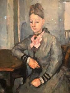 Image d'une peinture de Cézanne représentant une dame