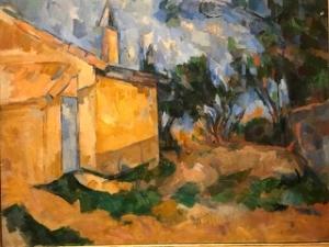 Image d'une peinture de Cézanne représentant une maison