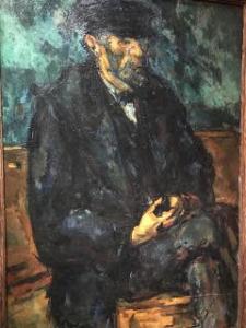 Image d'une peinture de Cézanne représentant un marin