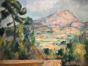 Image d'une peinture de Cézanne représentant une montagne